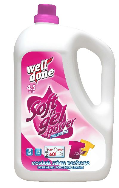 Well Done - Finel prací gel color 4,5L