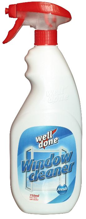 Well Done - čistič oken - Fresh 750ml