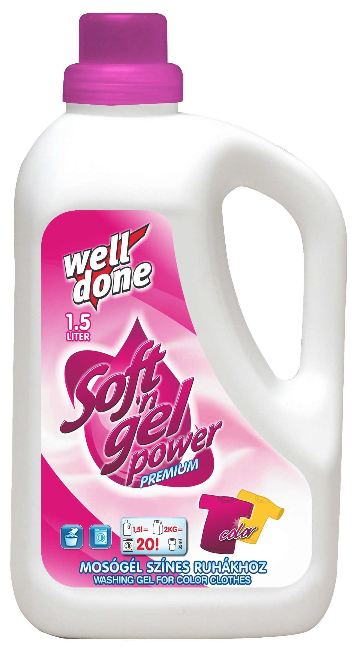 Well Done - Finel prací gel color 1,5L